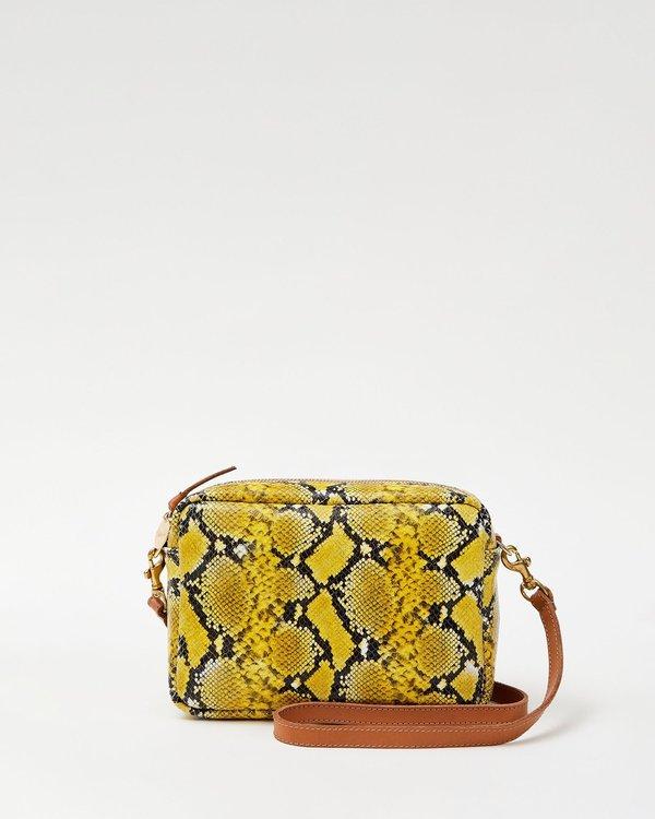 Clare V. Midi Sac - Yellow Mini Snakeskin