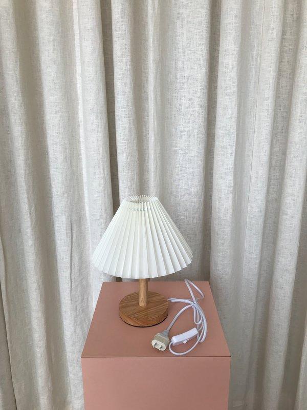 Ri-Ri-Ku SHORT WOODEN FAN LAMP - cream
