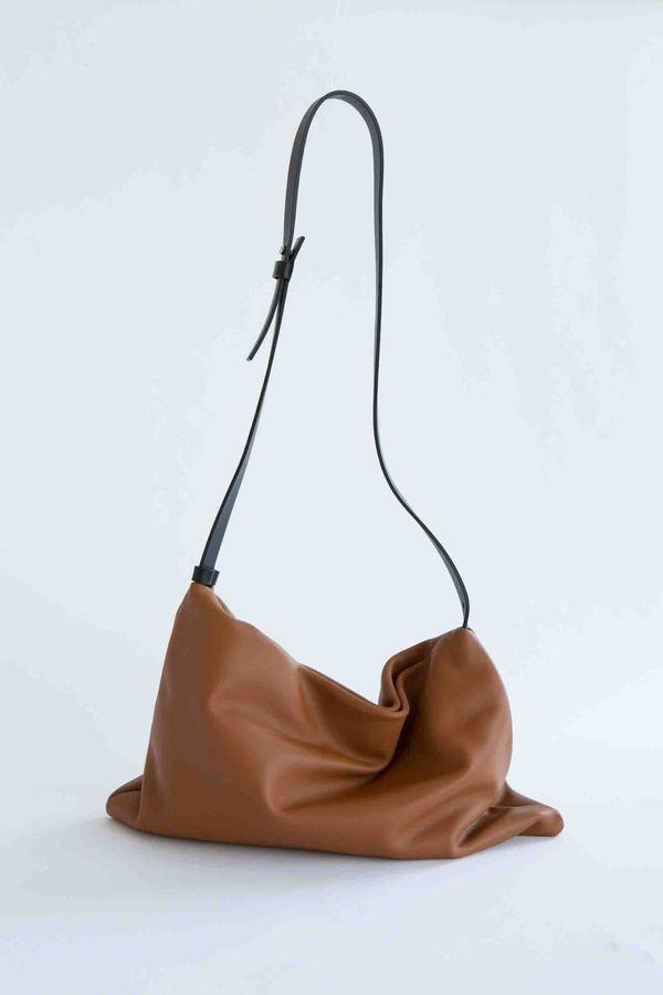 WOLF & GYPSY VINTAGE Handmade Italian Leather Shoulder Bag - brown