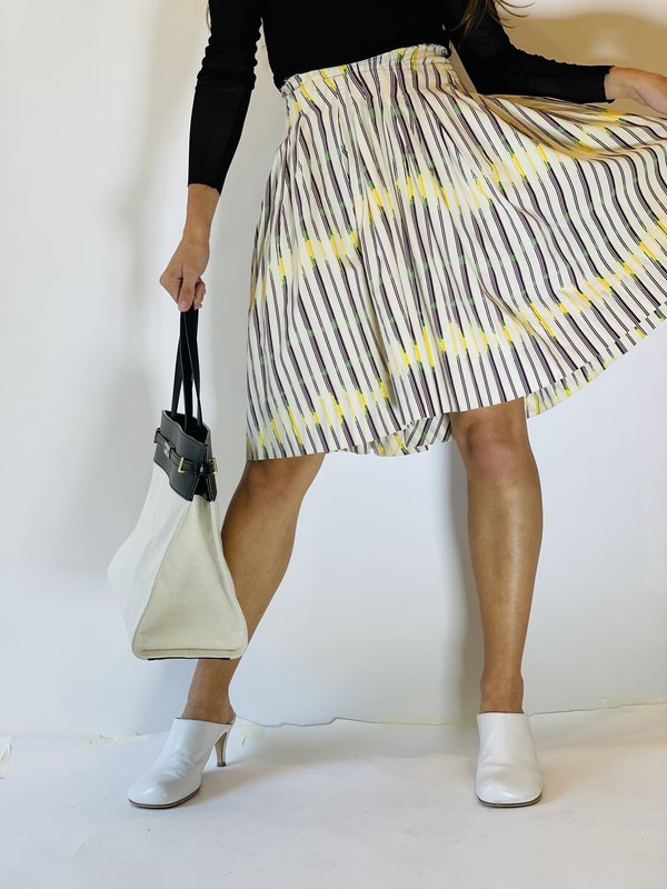 PRE-LOVED Marni Printed Mini Skirt - Beige Multi-Color