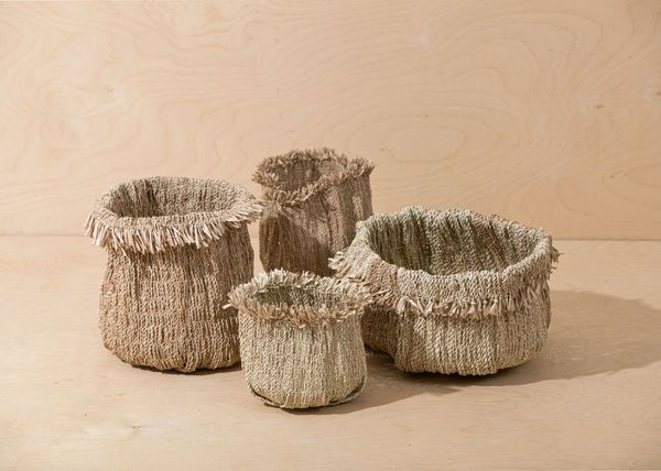 Territory Tassel Basket - Oat