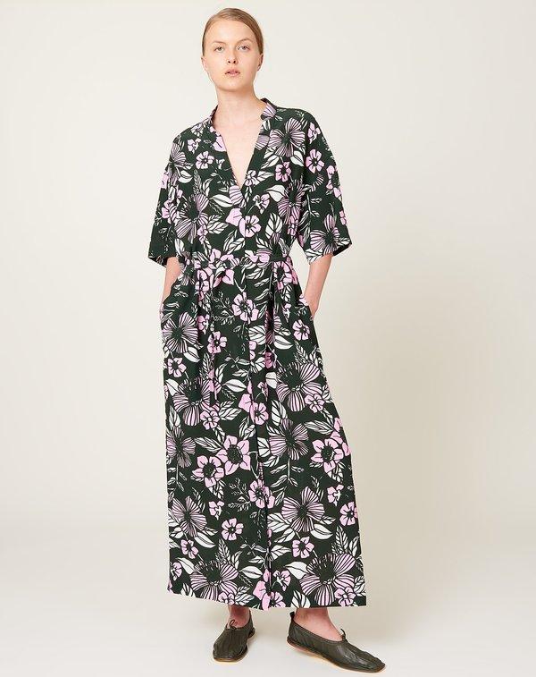Christian Wijnants Drieke Dress - Pink/Forest Bouquet