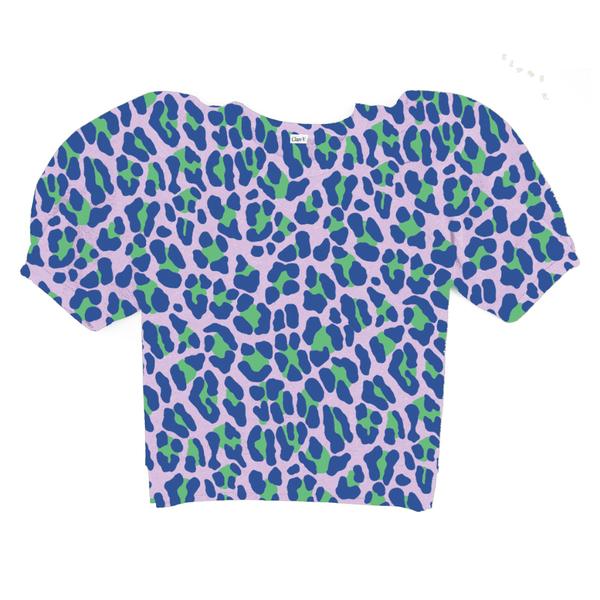 CLARE V. Puff Sleeve Sweatshirt - Lavender Jag