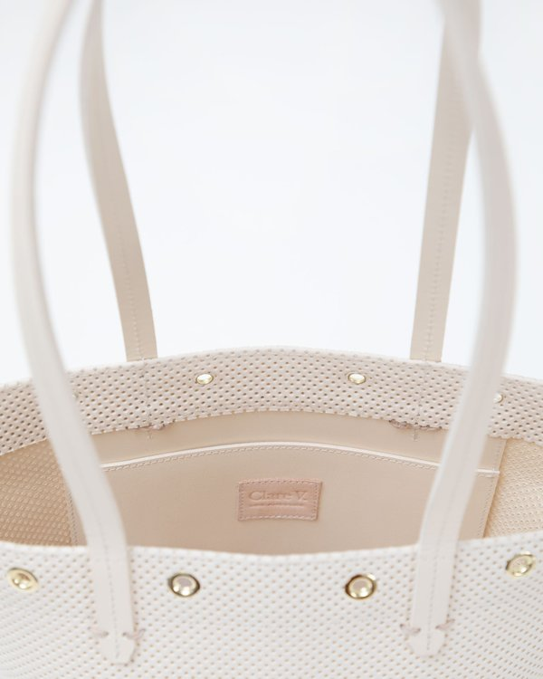 CLARE V. Choupette Woven Leather bag