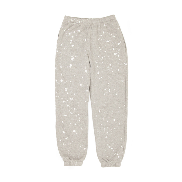 CLARE V. Sweatpants - Light Grey Splash