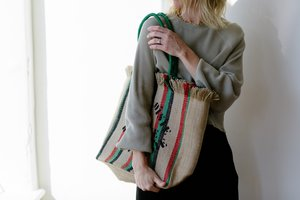 Clare V. Market Tote - Natural/Stripes