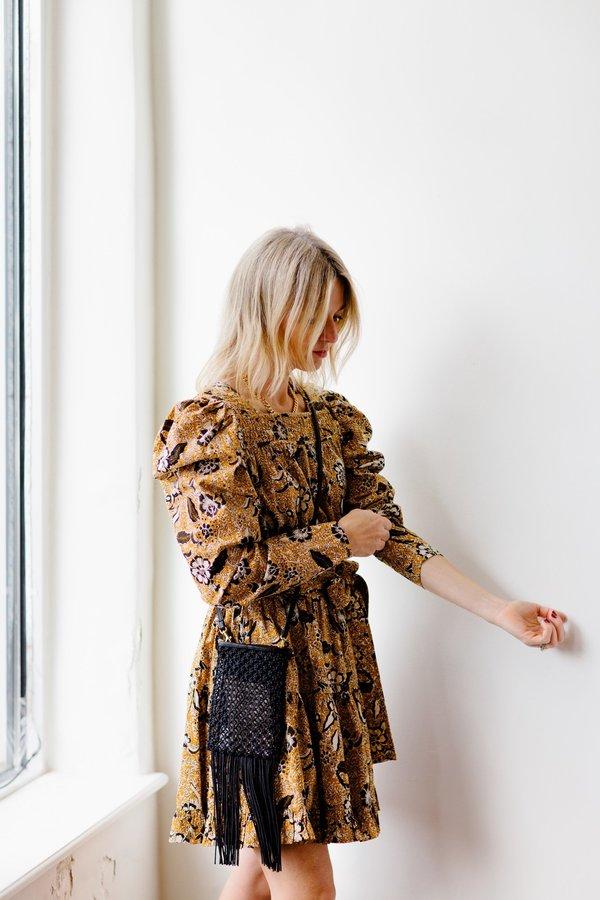 Clare V. Poche Crochet Crossbody - Black