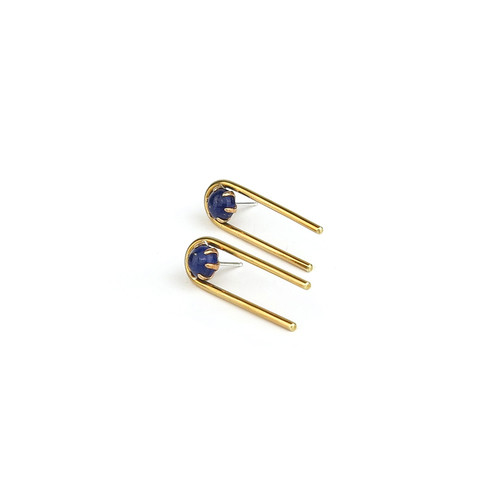 Claire Green Jewelry Passage Posts in Lapis