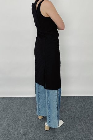Theopen Product One-shoulder Cut-out Dress - Black