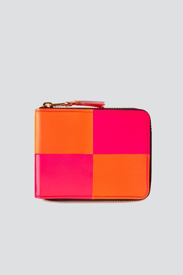 Comme des Garçons Fluo Squares Wallet - Orange/Pink