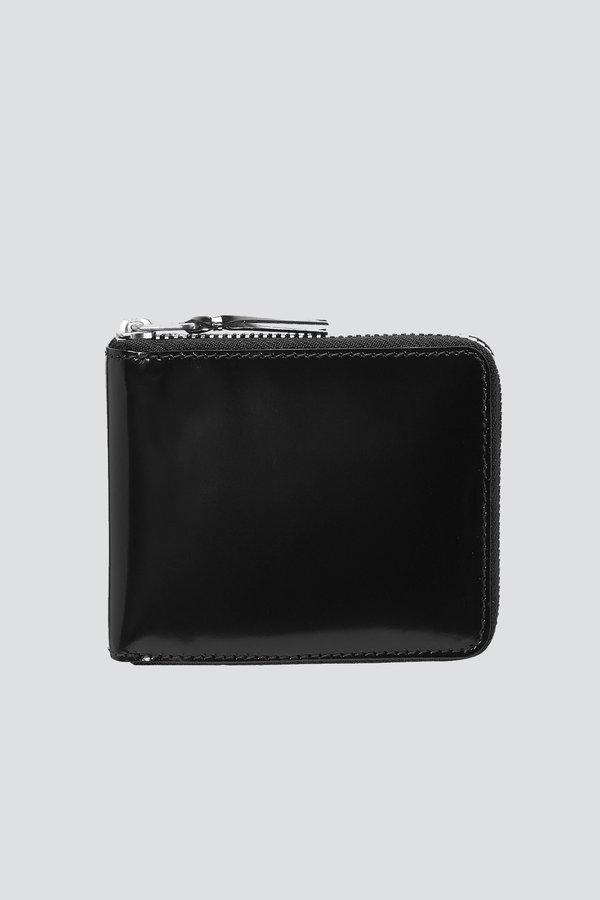 Comme des Garçons SA7100MI Mirror  Leather Wallet - black