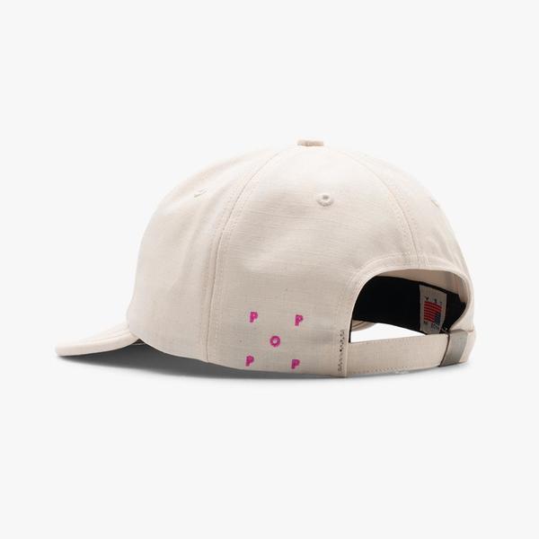 Pop Trading Company Flexfoam 6 Panel Hat - Off White