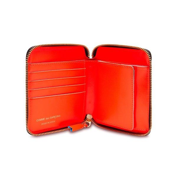 Comme Des Garçons Classic Zip Wallet - Fluo Squares Blue/Orange