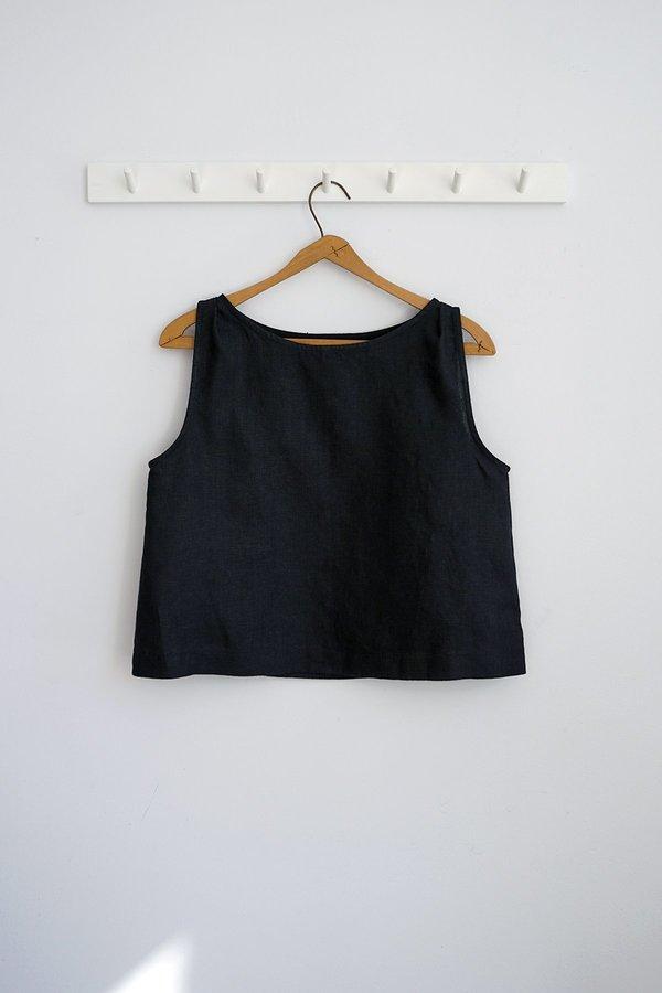 Ursa Minor Studio Meg Linen Top - Black