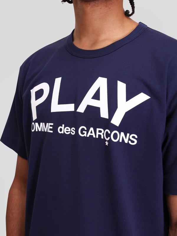 Comme des Garçons Play Logo T-Shirt - Navy