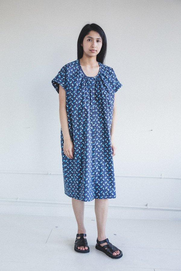 Caron Callahan Thadie Dress - Navy Cowry Print
