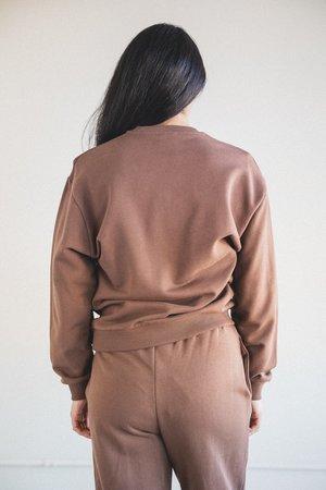 Baserange Italian Fleece Loose Sweatshirt - Loam Brown
