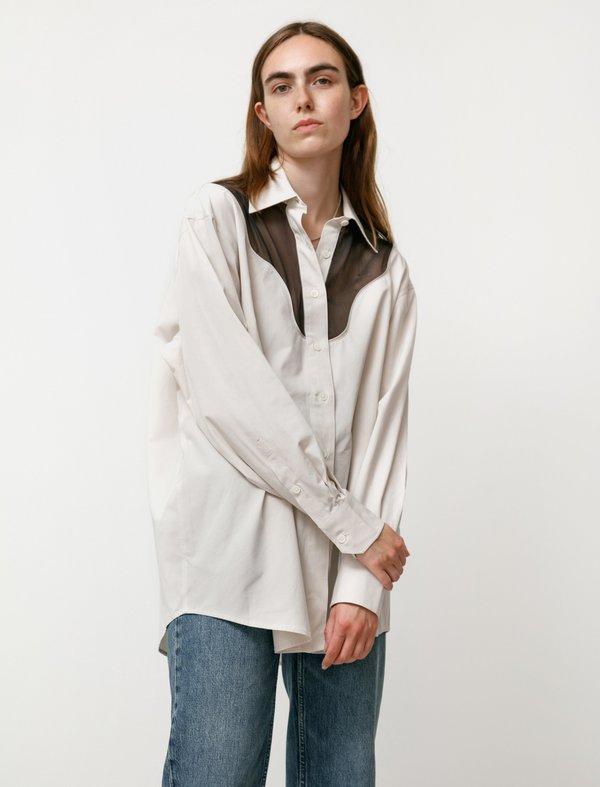 Our Legacy Lend Cut Lines Shirt - Sand/Beige
