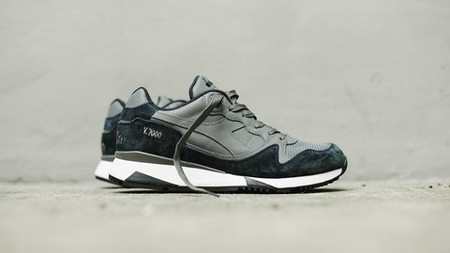 Diadora V7000 Italia Sneakers - Steel Gray/Total Eclipse