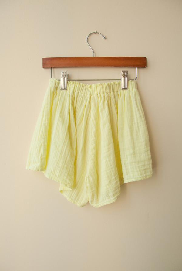 Kids Boy+Girl Play Short - Lemon