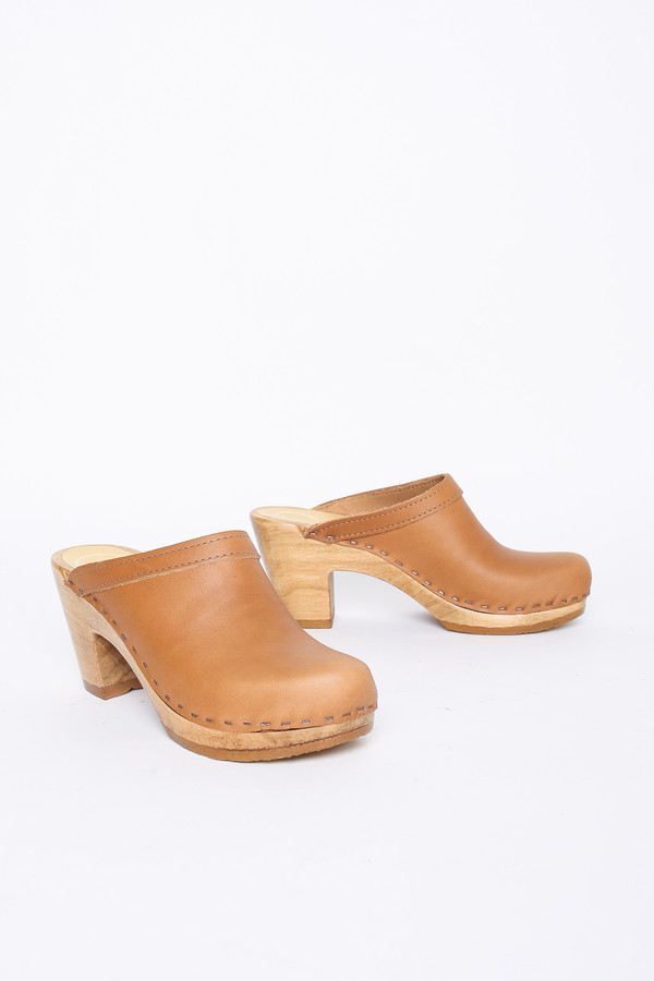 8b1c0a70acb0 No.6 Old School High Heel Clog in Palomino
