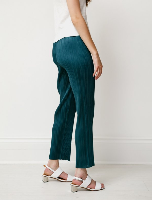 Pleats Please by Issey Miyake Bouquet Colours Viridian Pants - Green