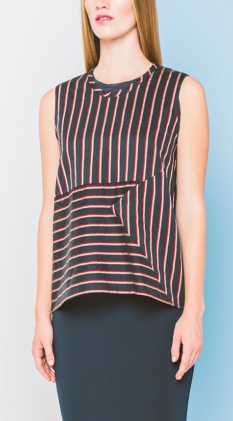 Obakki Multidirectional Stripe Shirt
