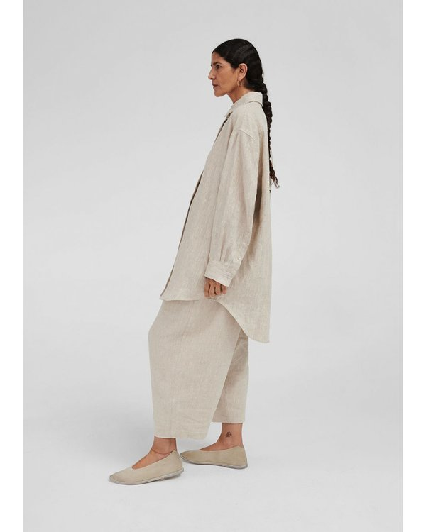 Mónica Cordera Natural Linen Maxi Pants - Cream