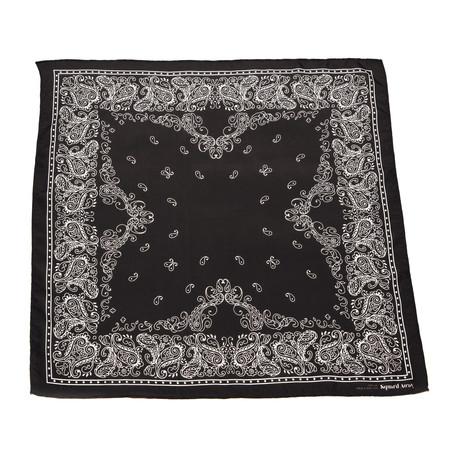 Squar'd Away The Badlands scarf - almost black