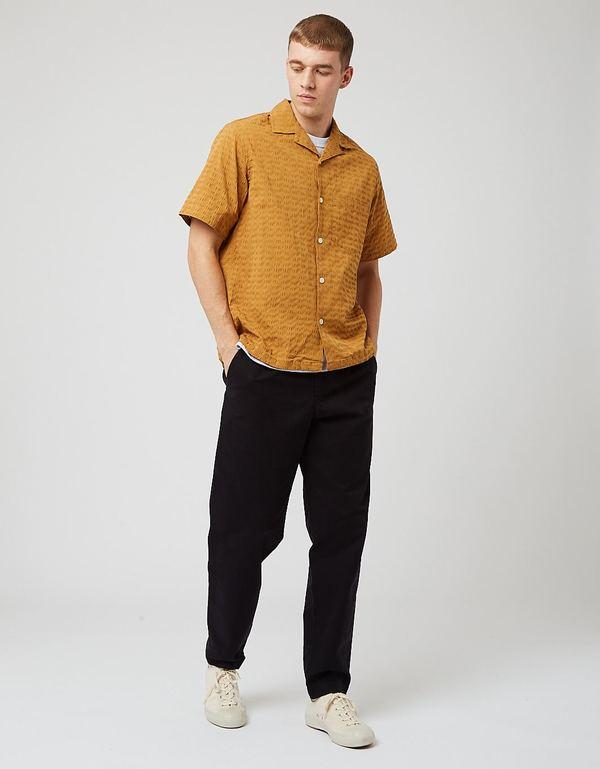 Portuguese Flannel Square Seersucker Shirt - Mustard