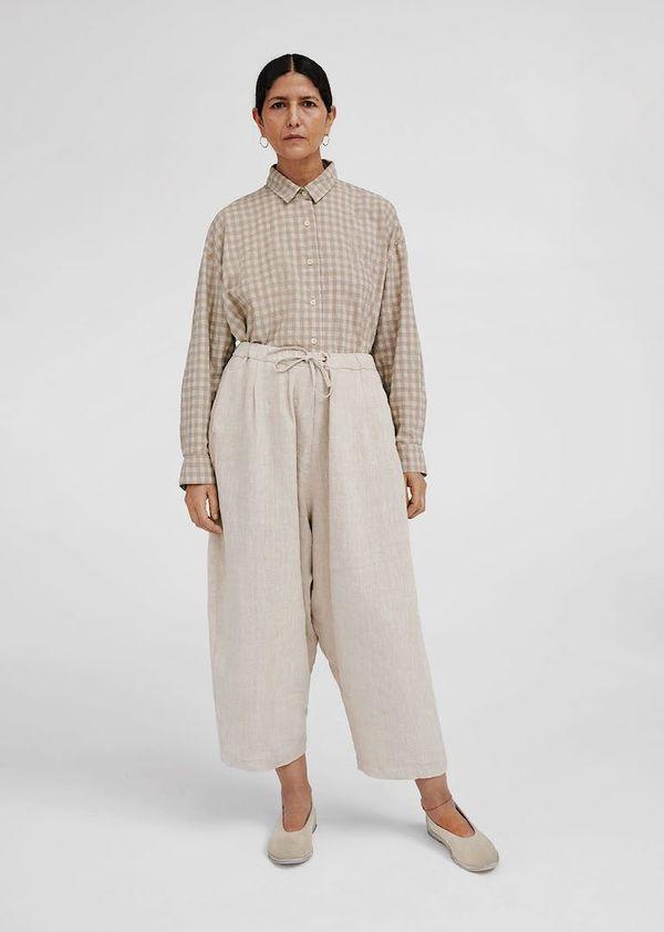 Monica Cordera Maxi Pants - Natural Linen