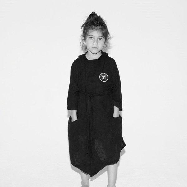 KIDS Nununu Muslin Robe - BLACK