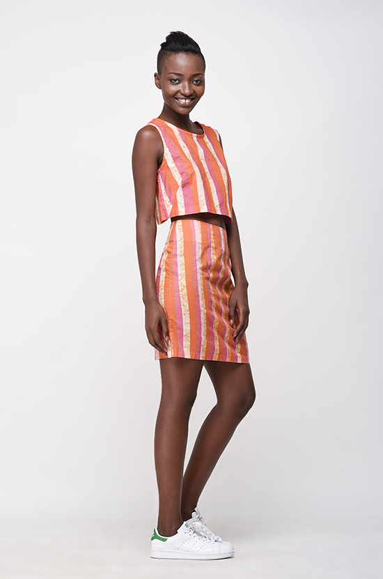 Osei-Duro Desine Skirt in Candy Stripe