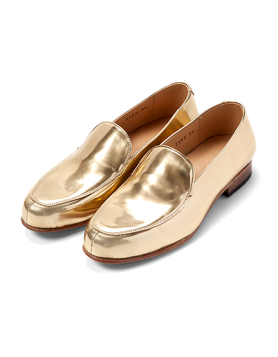 DIEPPA RESTREPO GOLD METALLIC SERGE LOAFER