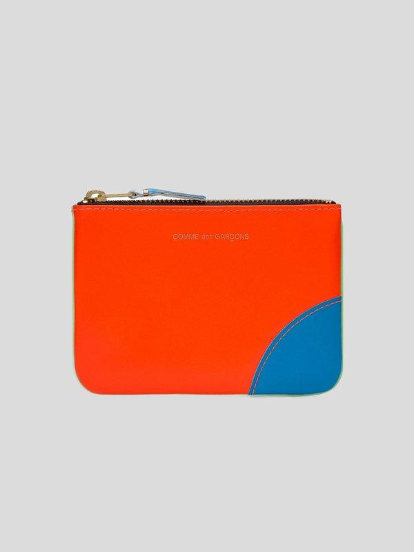 Comme des Garçons Super Fluo wallet - Green/Orange