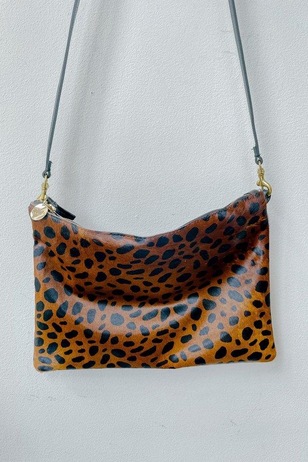 Clare V. Single Sac Bretelle Ba - Leopard Lamba
