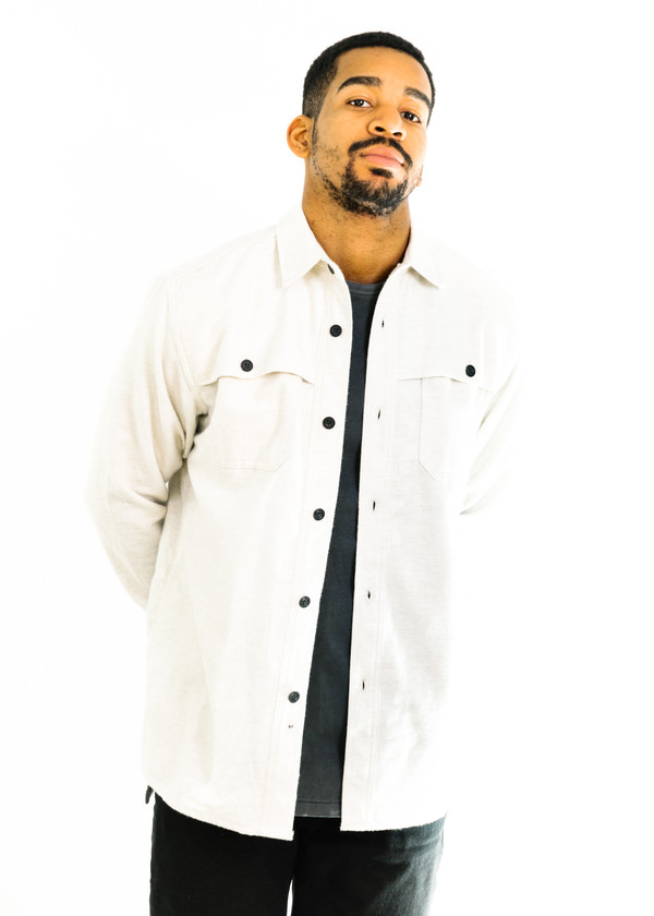 c96cfdc24b3 3Sixteen Hunting Shirt (Ivory Flannel). sold out. 3Sixteen