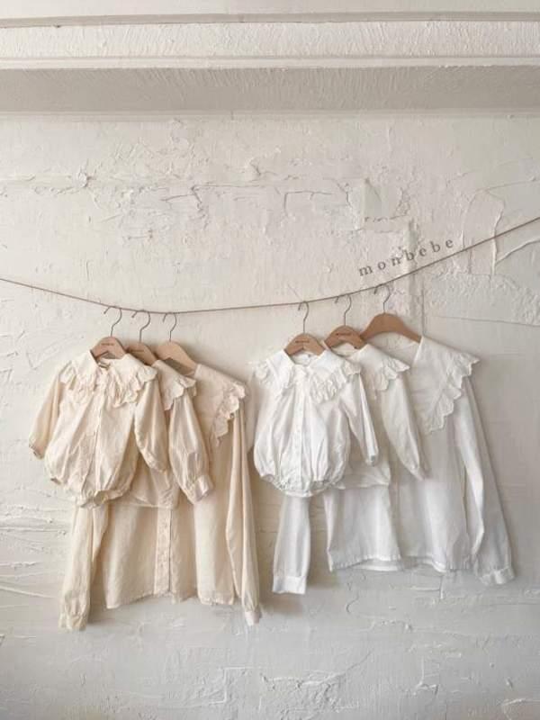 kids Monbebe Romantic Bodysuit - Cream