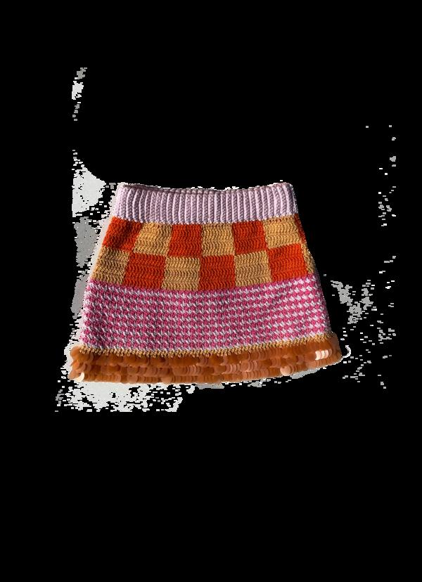 Erika Maish Crocheted Miniskirt