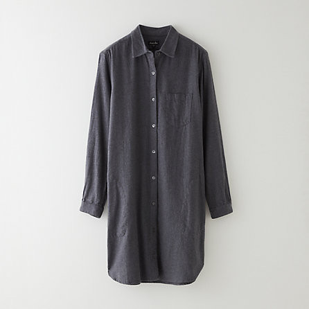 Steven Alan Classic Shirtdress Charcoal
