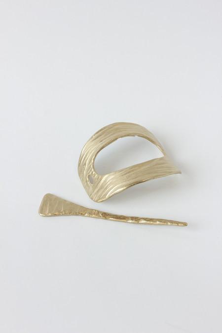 Nettie Kent Jewelry Titan Hairslide - Brass