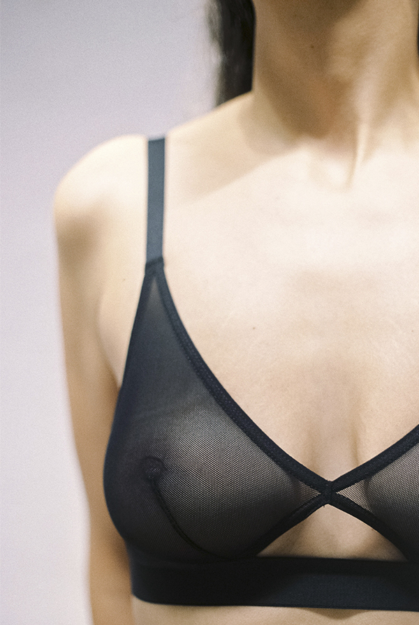 d47e10ab76 NUDE LABEL Cutout Bra - Sheer Black. sold out. The Nude Label