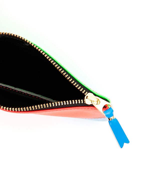 Comme des Garçons Leather Super Fluo Wallet - Multicolor