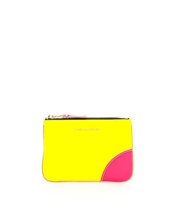 Comme des Garçons Leather Pouch with Zip Wallet - Yellow/Orange