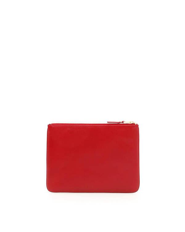Comme des Garçons Classic Leather Pouch Wallet - Red