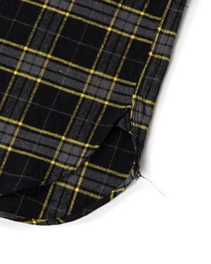 Engineered Garments Work Shirt - Black/Yellow Cotton Twill Plaid