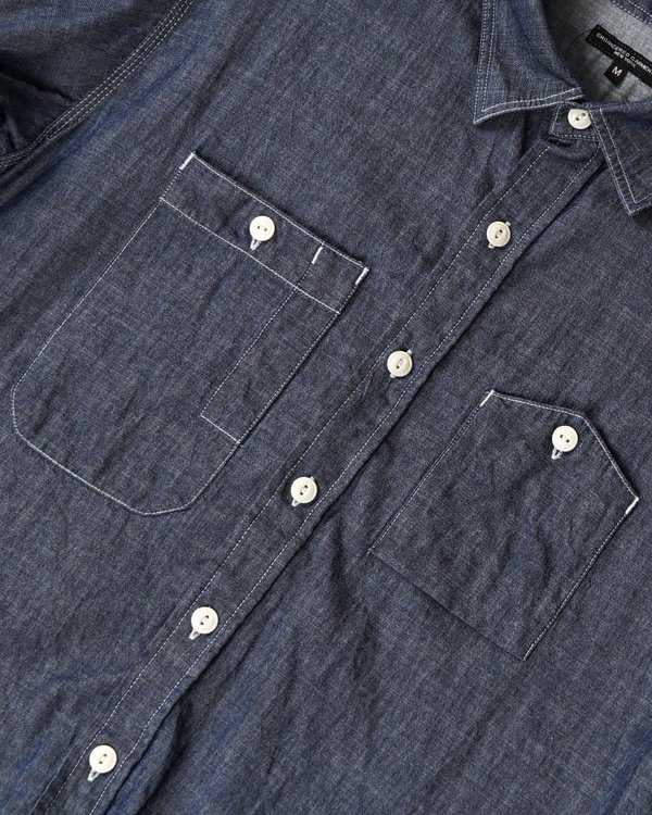 Engineered Garments Work Shirt - Indigo Denim Twill Shirting