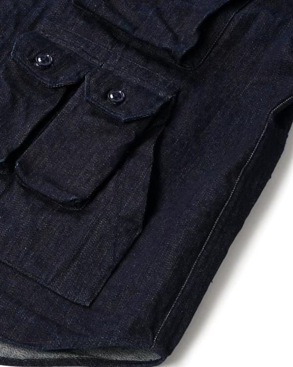 Engineered Garments 10oz Broken Denim Explorer Shirt Jacket - Indigo