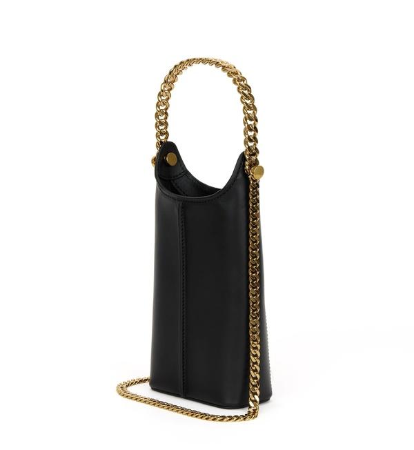 Unisex KARA Infinity Tech Pouch chain - Black / Gold