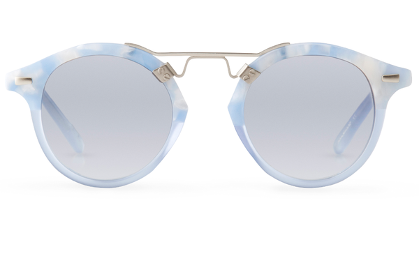 4cf5888bcc45 Krewe du Optic St. Louis Sunglasses in Matte Ciel to Blue Crystal. sold out